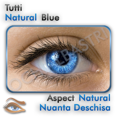 Lentile colorate Natural Blue