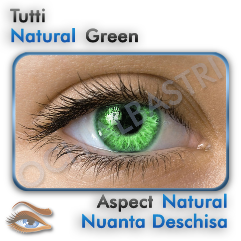 Lentile colorate Natural Green